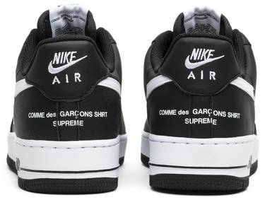 best cheap c2279 5b40f Supreme x Comme des Garçons SHIRT x Air Force 1 Low 'Black'