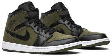 release date: dec8a 50c9d Air Jordan 1 Mid 'Olive Canvas'