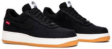 3e9b35d083 Supreme x Air Force 1 Low Premium '08 NRG 'Black' - Nike - 573488 ...