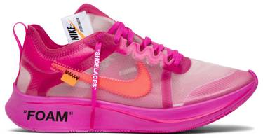 Off White X Zoom Fly Sp Tulip Pink Nike Aj4588 600 Goat