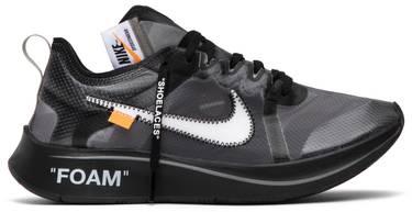 1e69f082683b9 OFF-WHITE x Zoom Fly SP  Black  - Nike - AJ4588 001