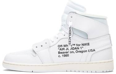 watch 86733 dfde9 OFF-WHITE x Air Jordan 1 Retro High OG 'White' 2018
