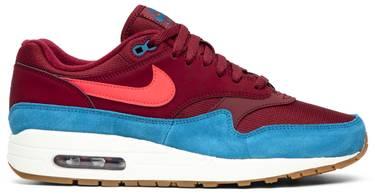Nike Air Max 1 Teal + Burgundy AH8145 601   Fashion