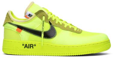 597e1bea OFF-WHITE x Air Force 1 Low 'Volt' - Nike - AO4606 700 | GOAT