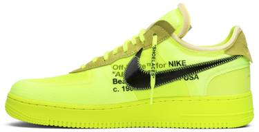promo code 84fae 74b8a OFF-WHITE x Air Force 1 Low 'Volt'