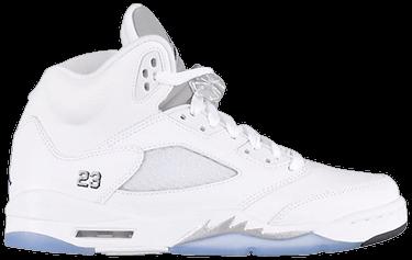 sale retailer fea8f 7fcf7 Air Jordan 5 Retro BG  Metallic White