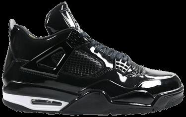 2aaa9259f820 Air Jordan 4 Retro 11Lab4  Black Patent Leather  - Air Jordan ...