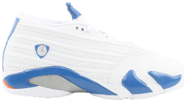 low priced 584e8 56cd6 Air Jordan 14 Retro Low  White Pacific Blue