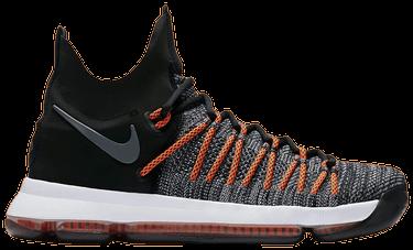 02d9215ddbec2 KD 9 Elite  Dark Grey Hyper Orange  - Nike - 878637 010