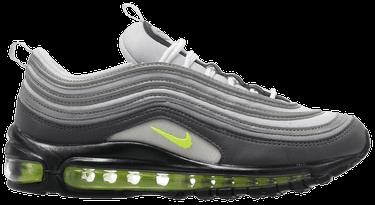 "Nike Air Max 97 ""Neon"" Dark GreyVolt Stealth Pure Platinum For Sale"