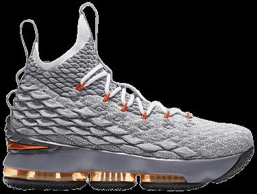 c4766403f17 LeBron 15 GS  Grey Orange  - Nike - 922811 080