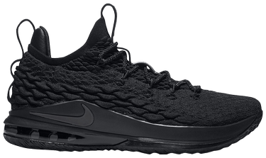 new concept d50b2 c71a9 LeBron 15 Low 'Triple Black'