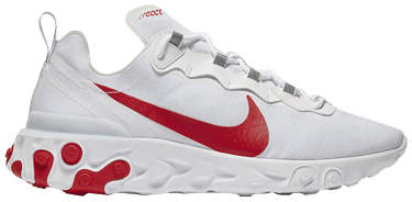 new concept 8c6b8 41fac React Element 55  White University Red . Nike