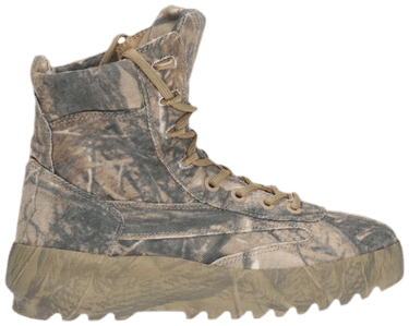 Season 5 Military Boot 'Camo' by Yeezy, available on goat.com for $1000 Kendall Jenner Shoes Exact Product
