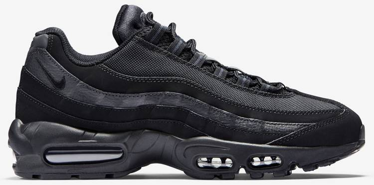 latest design running shoes free delivery Air Max 95 'Triple Black'