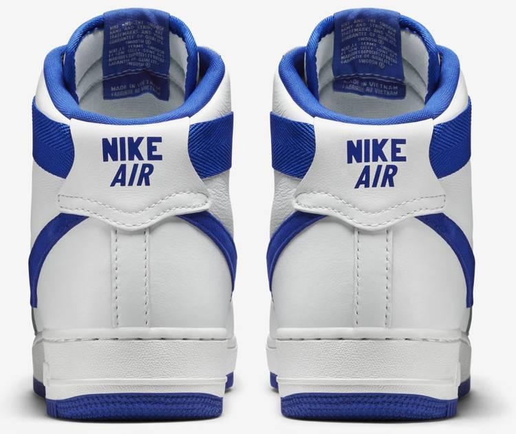 Air Force 1 High Og White Royal Blue Nike 743546 103 Goat