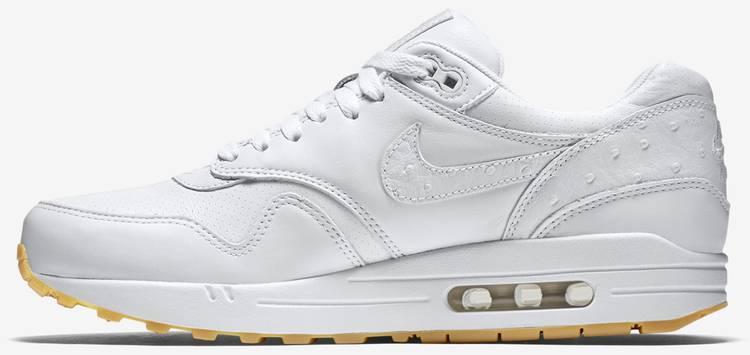 Nike Air Max 1 Leather PA Mens 705007 111 White Ostrich Gum