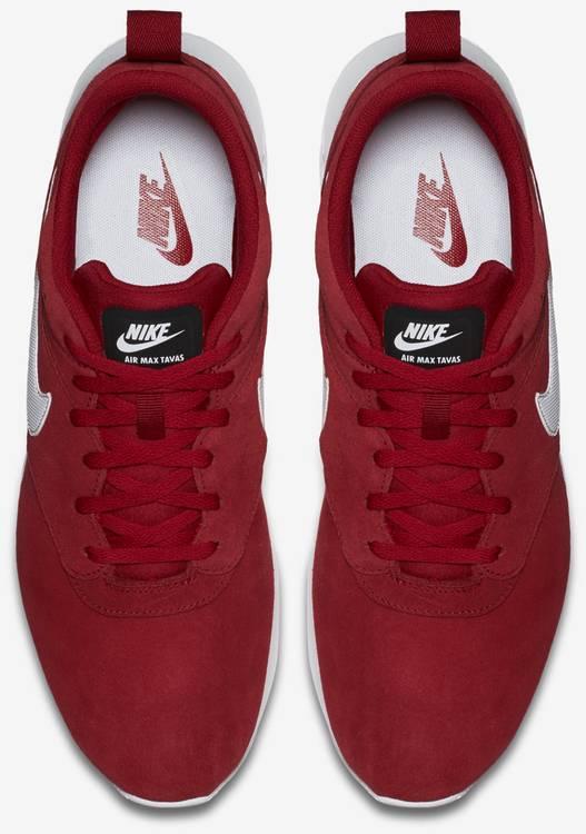 nike air max tavas red leather