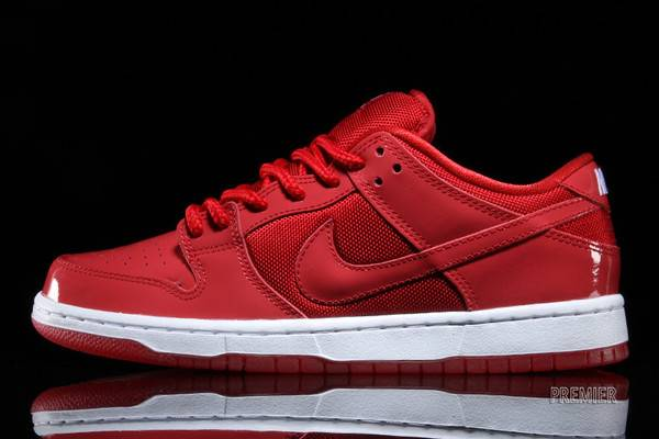 running shoes quality exquisite style Dunk Low Pro SB 'Red Patent Leather'