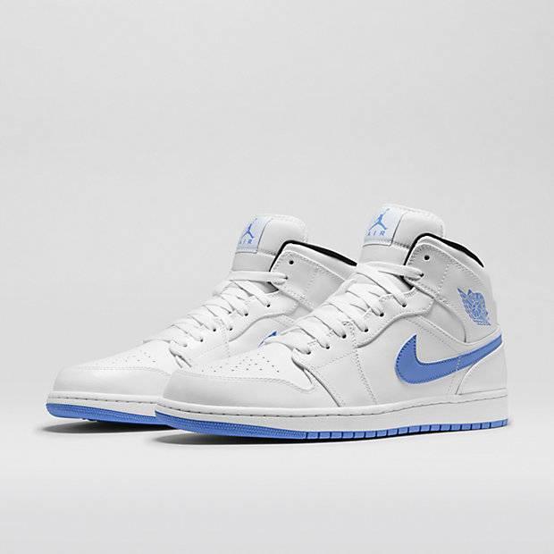 blue and white jordan 1