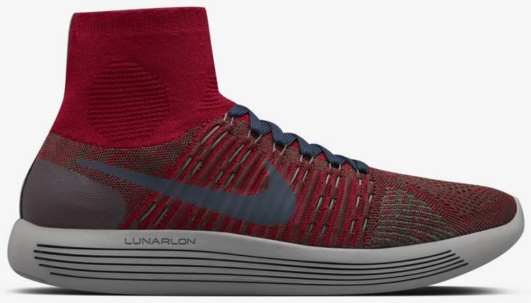 Nike Mens Running Shoes  NikeLab Gyakusou LunarEpic Flyknit  Team RedSequoiaMidnight FogDark Ob