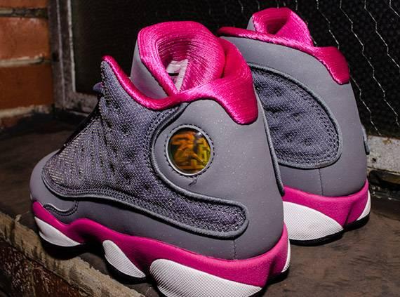 Air Jordan 13 Retro GS 'Grey Fusion Pink'