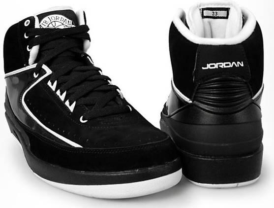 black air jordan 2