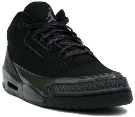 air jordan 3 all black