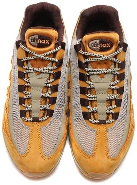 MEN'S NIKE AIR Max 95 Premium Running BronzeBaroque BrownBamboo 538416 700