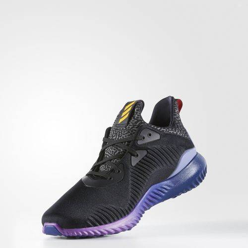 adidas alphabounce black purple