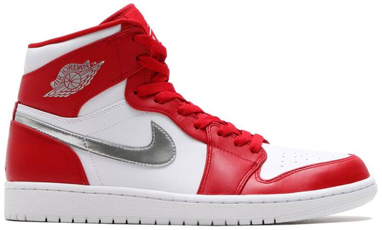 white and red jordan 1