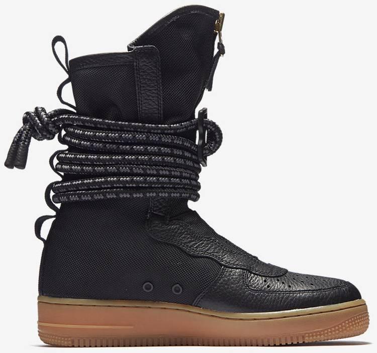 Wmns Sf Air Force 1 High Black Gum Nike Aa3965 001 Goat
