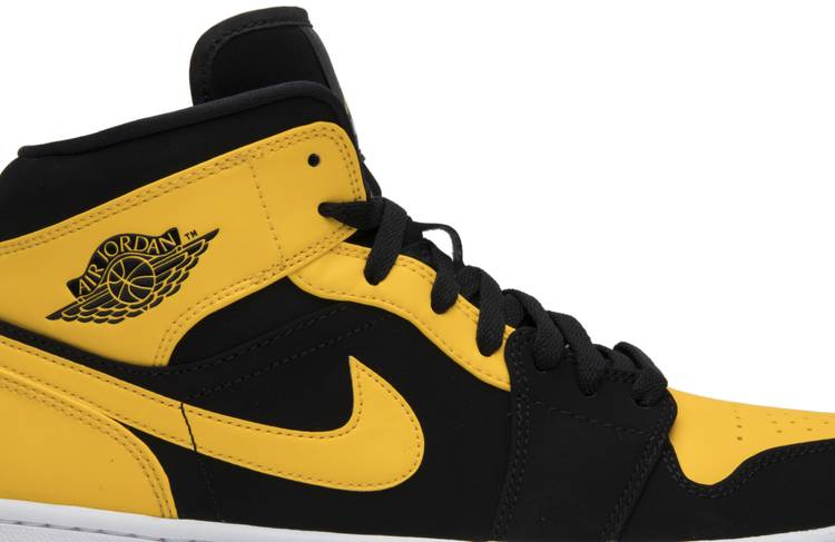 air jordan 1 black and yellow nz