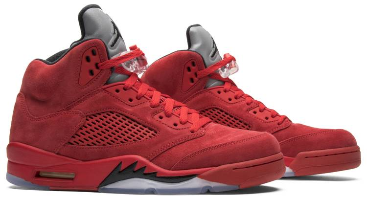 beauty new high quality new cheap Air Jordan 5 Retro 'Red Suede'
