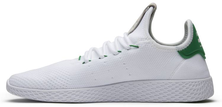 7c84a1ead3f1f ... Official Images adidas Pharrell x Tennis Hu Green  Best Wholesaler Pharrell  Williams Tennis Hu Primeknit WhiteGreen ...