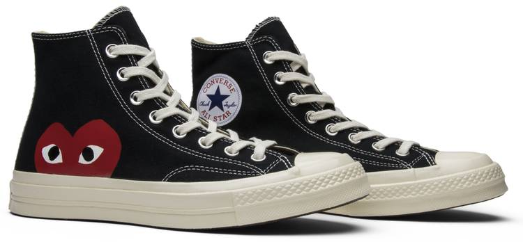 vulgar síndrome Moderador  Comme des Garçons x Chuck Taylor All Star Hi 'Play' - Converse - 150204C    GOAT