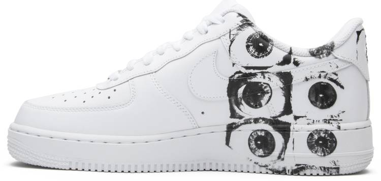 Interconectar guirnalda Aclarar  Comme des Garçons x Supreme x Air Force 1 Low 'Eyes' - Nike - 923044 100 |  GOAT