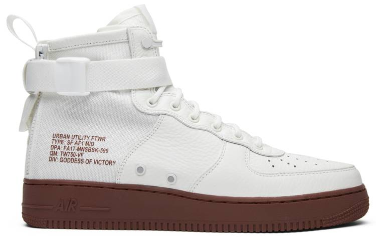 nike sf air force 1 mid red ivory