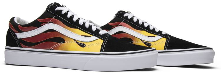 old skool vans flame