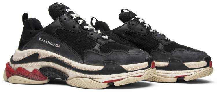 Balenciaga Triple S Suede And Mesh Trainers in Blue for Men