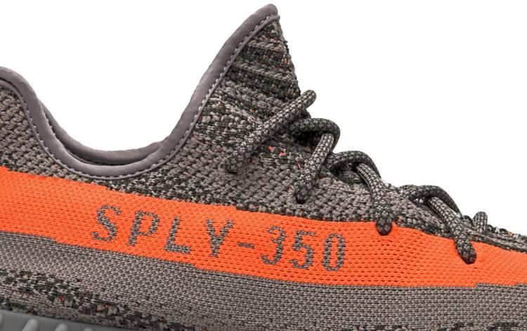 Adidas Yeezy Boost 350 V2 Grey Orange Sport Shoes