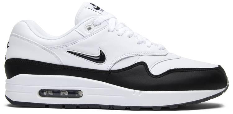 1e422184400b ... nice shoes 9b250 9e3cd Nike Air Max 1 Premium SC Jewel Black Swoosh .  ...