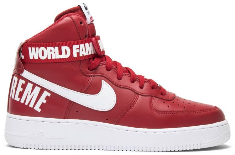 Nike Supreme x Air Force 1 High SP 'Red'