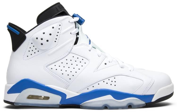 Sports Shoes Jordan Air Jordan 6 Retro Sport Blue Mens Style