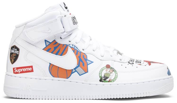 Nike Supreme x NBA x Air Force 1 Mid 07 'White'