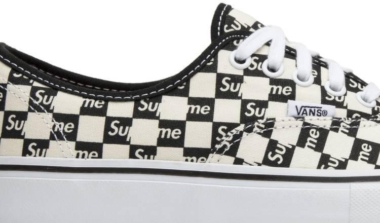 Vans Authentic Supreme Black Checker Logo Sneaker