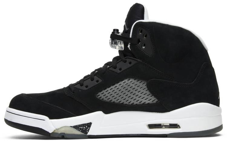 jordan 5 black and white