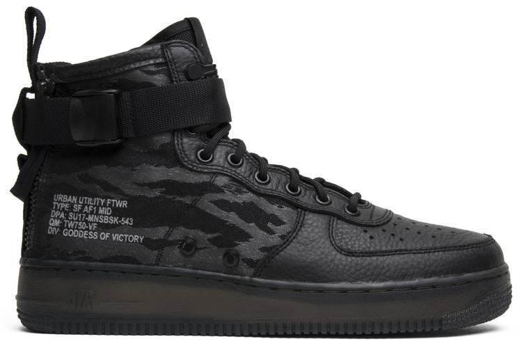 air force 1 camoscio nere