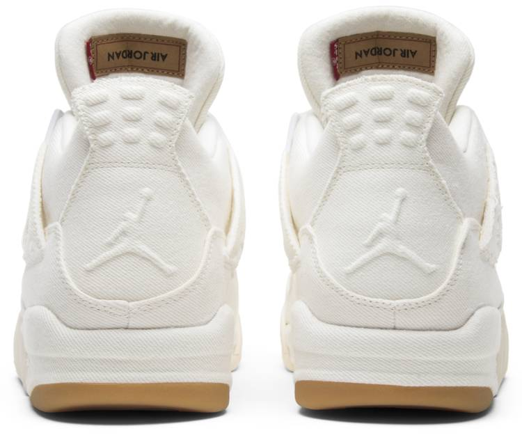 Levi's x Air Jordan 4 Retro 'White Denim'