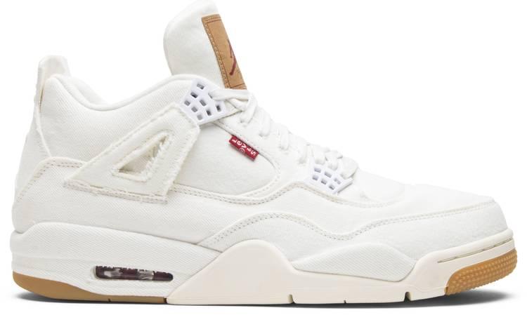 Pigmento Escoba Perceptivo  Levi's x Air Jordan 4 Retro 'White Denim' - Air Jordan - AO2571 100   GOAT